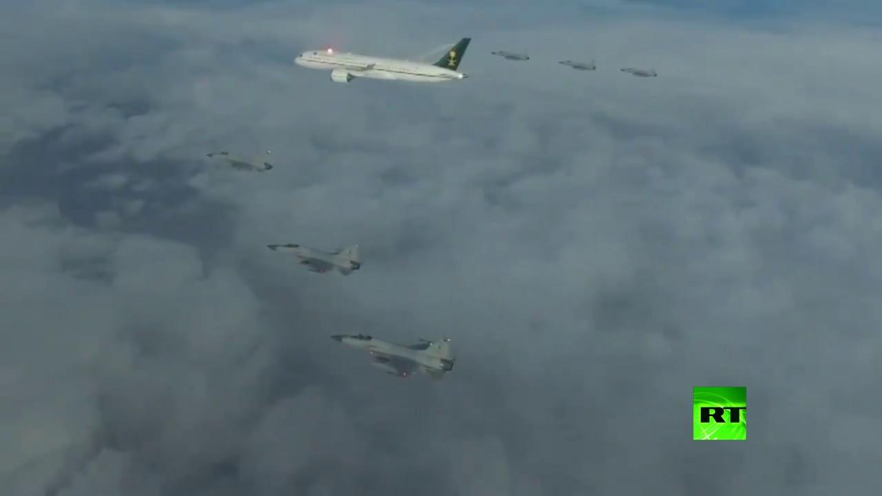 طائرات حربية باكستانية تستقبل ولي العهد السعودي في السماء