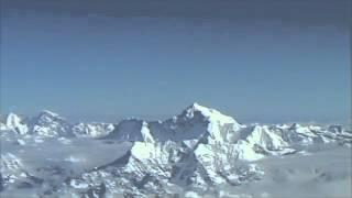 Flight over Himalayas