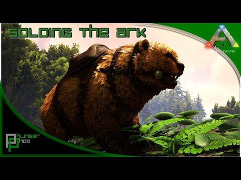 Soloing the Ark S4E53 - TAMING HIGH LEVEL DINOS AT LOW LEVEL! DIRE BEAR TAMING!