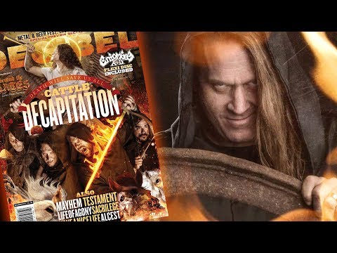 "Travis Ryan of CATTLE DECAPITATION Discusses ""Death Atlas"" and Their Decibel Magazine Cover Debut"