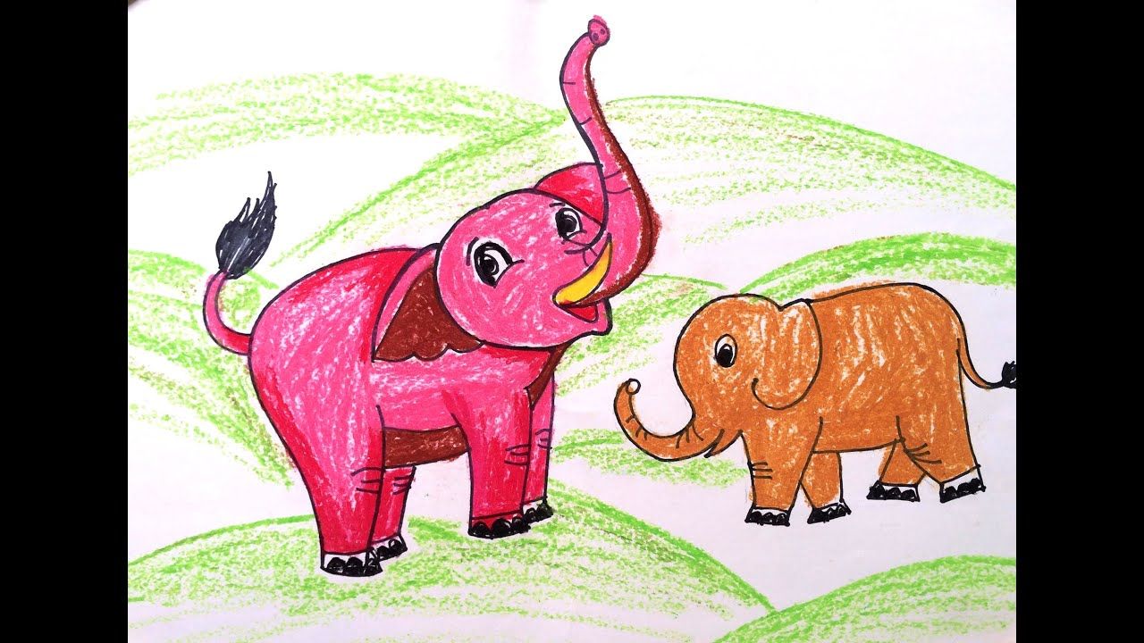 painting animals for kids painting for kids how to draw an elephant for kids art for kids - Animal Painting For Kids