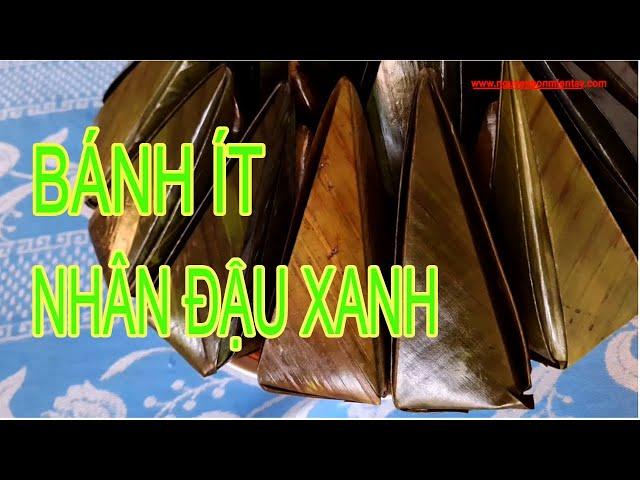BÁNH ÍT | CÁCH LÀM BÁNH ÍT MÌNH NGỌT NHÂN ĐẬU XANH | NHÂN MẶN #nguyensonmientay #banhitminhngot