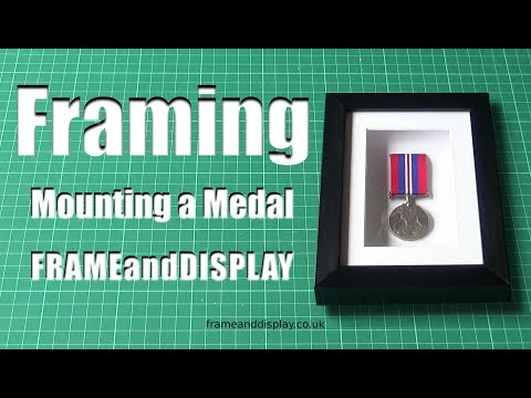 Simple Method of Mounting a Medal in a Box Frame
