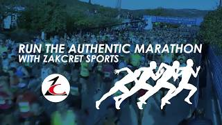 Run The Authentic Marathon With ZAKCRET Sports!
