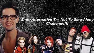 Emo/Alternative Try Not To Sing Along Challenge