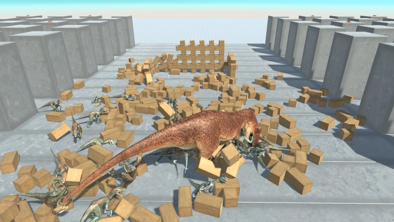 VELOCIRAPTOR Army in Stone Forest vs ALL UNITS Animal Revolt Battle Simulator