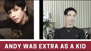 """Andy Biersack Talks About Being """"EXTRA"""" As A Kid"""