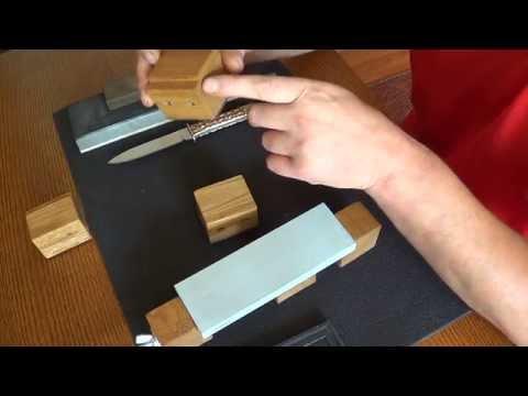 Самодельная подставка-держатель для точильных камней(это может Вам пригодится).