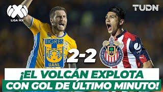 ¡Partido cardíaco! Tigres empata de último minuto | Tigres 2-2 Chivas | Final Ida | TUDN