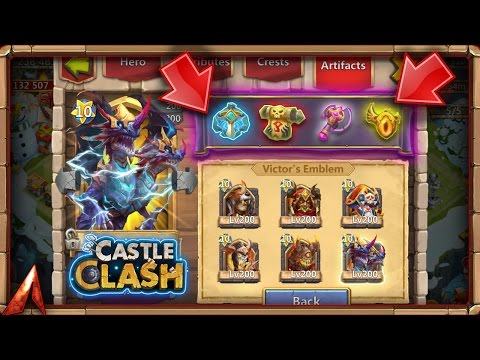Castle Clash Guild Wars Bug! Artifact Interface Change Suggestions!