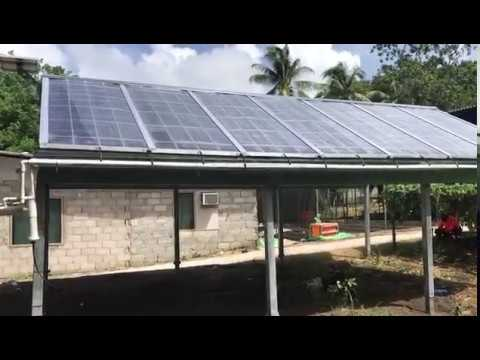 F Cubed Nauru Solar Water Purification Community Shelter