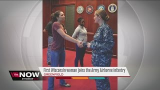 Local woman first from WI in Army airborne infantry