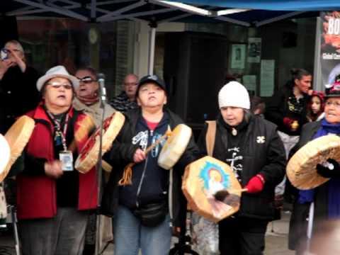 Coast Salish prayer for warrior women. 03/21/12 Vancouver, BC.