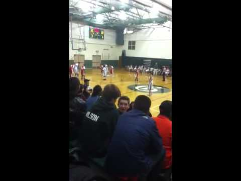 Grissom middle school vs. Beer basketball game 2011