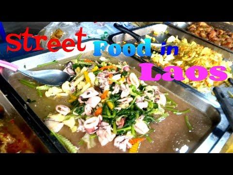 Laos Street Food, Street Food in Vientiane, Laos, Travel in Laos, Lao Food