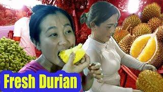 Vietnam Street Food - Delicious Vietnamese Fresh Fruit Durian/Sau Rieng Hat Lep