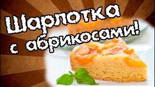 Шарлотка (бисквит) с абрикосами. Быстро и вкусно!