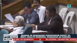 Dagdag P4-K buwanang Honorarium grant sa Barangay Health workers, ikinakasa sa Kamara