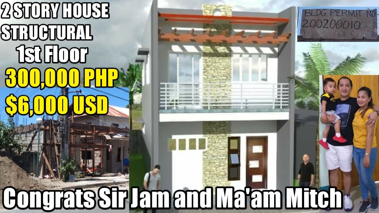OFW SIMPLE HOUSE,2STORY HOUSE STRUCTURAL 300,000PHP,Congrats Sir Jam&Ma'am Mitch,Dubai Ofw Aparri Ph