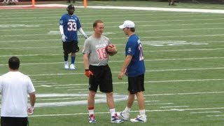 Peyton Manning to Eli Manning at the Pro Bowl 2013