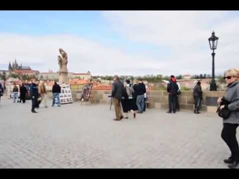 Song on the bridge in Praha