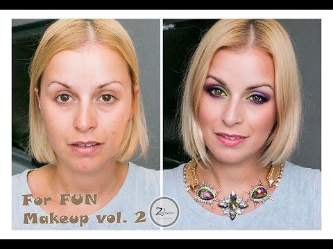 CHIT CHAT Makeup - For FUN Makeup vol.2 - Makijaż w fioletach z zielenią