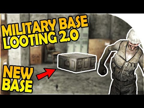 LOOTING the MILITARY BASE 2.0 - FINAL MOVE into NEW BASE - 7 Days to Die Alpha 16 Gameplay Part 33