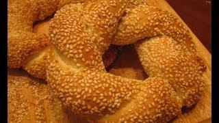 Турецкие бублики (Simit)(Замечательные турецкие бублики Simit. Попробуйте приготовить! Подробный рецепт здесь - http://pechemdoma.com/tureckie-bubliki-si..., 2013-04-06T20:33:34.000Z)
