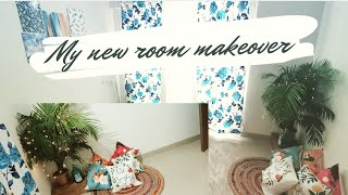 ROOM MAKEOVER on Budget || Extreme Room Transformation|| Rental friendly || #Hindivlog