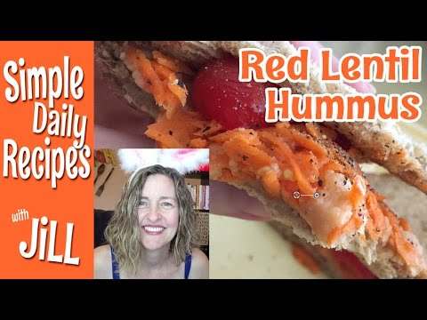 Red Lentil Hummus Sandwiches - YouTube