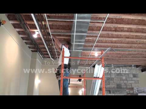 How To Install 9 16 Suspended Ceiling Grid