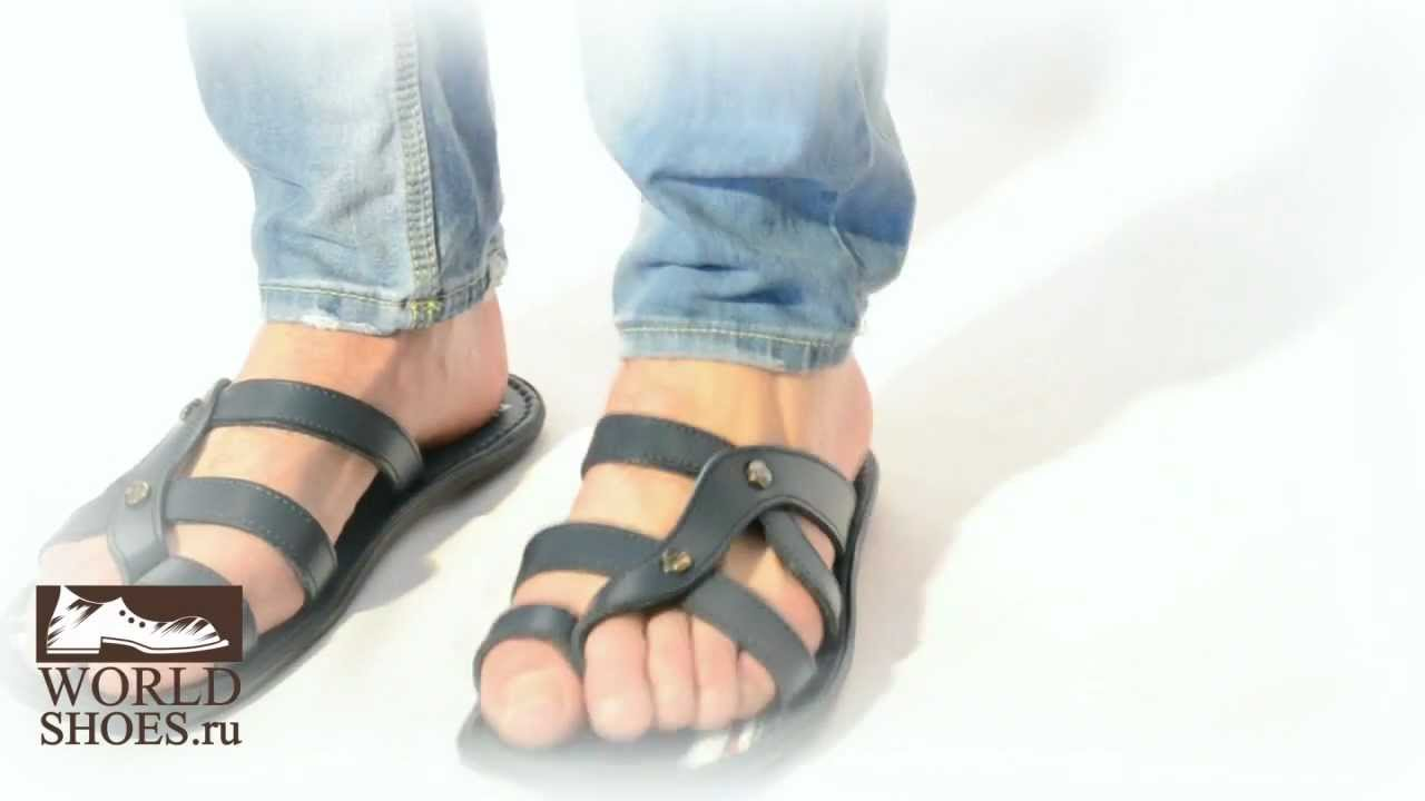 Мужские кожаные сандалии ETOR SA 377 648 brown.wmv - YouTube