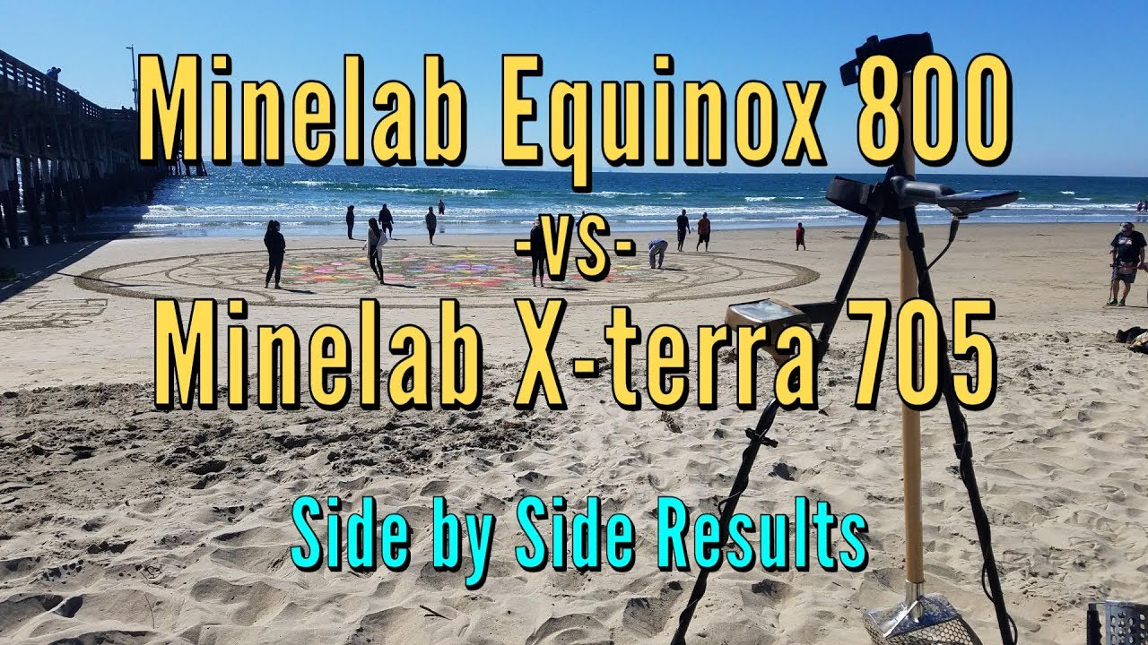 Minelab Equinox 800 vs Minelab X-terra 705 - Side By Side Testing - Equinox  Finds Gold