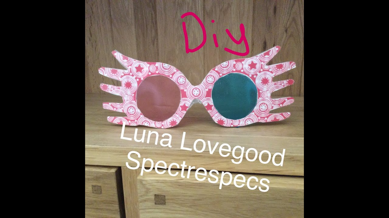 photograph about Luna Lovegood Glasses Printable named Do-it-yourself Harry Potter Spectrespecs