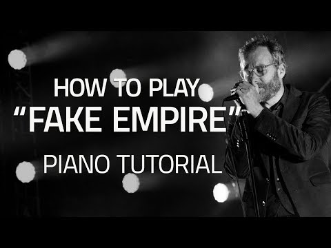 "How To Play ""Fake Empire"" By The National - Piano Lessons (Pianote)"