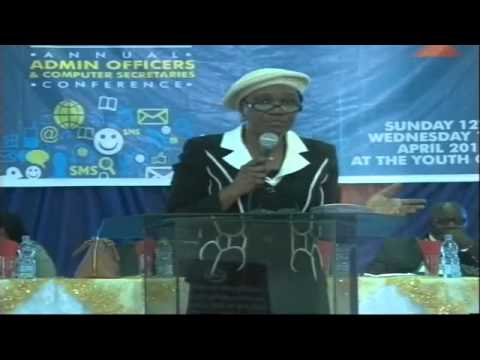 2015 Admin Conference Day 3 (Administrative Support in the Workplace -Pst (Mrs) Titi Adeojo)