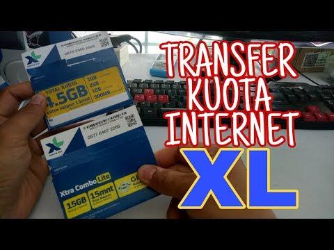 CARA MUDAH TRANSFER KUOTA INTERNET XL / AXIS  KE KARTU LAIN !