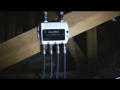 Channel Master Cm 4 Port Distribution Amplifier For
