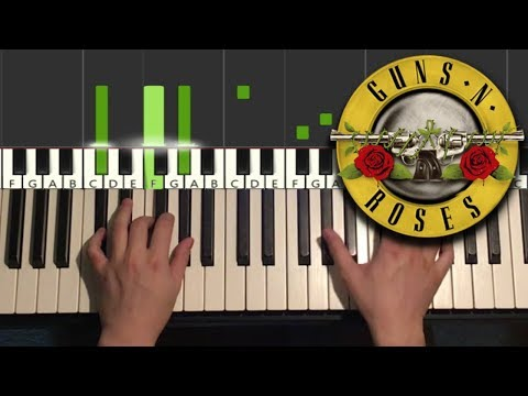 Guns N' Roses - Sweet Child O' Mine (Piano Tutorial Lesson)