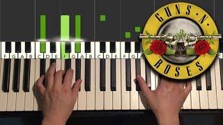 Guns N' Roses - Sweet Child O' Mine (Piano Tutorial Lesson)