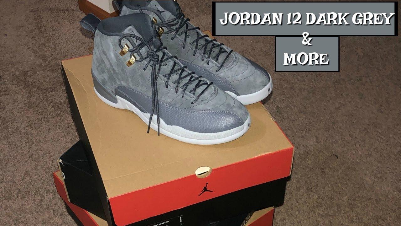 Nike Air Jordan 12 Dark Grey Suede s UNBOXING   Retro 12 Collection ... 671bb4c83