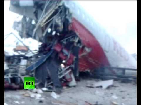 Plane crash photos graphic graphic video first moments after tu 204