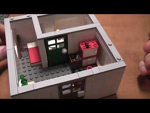 Зомби апокалипсис (квартира выжившего) - лего самоделка