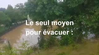 Inondations à Artix : il a fallu faire un trou dans le mur pour sauver la maison
