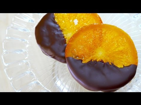 Chocolate Dipped Candied Orange Slices (Orangette) 輪切り オラン ...