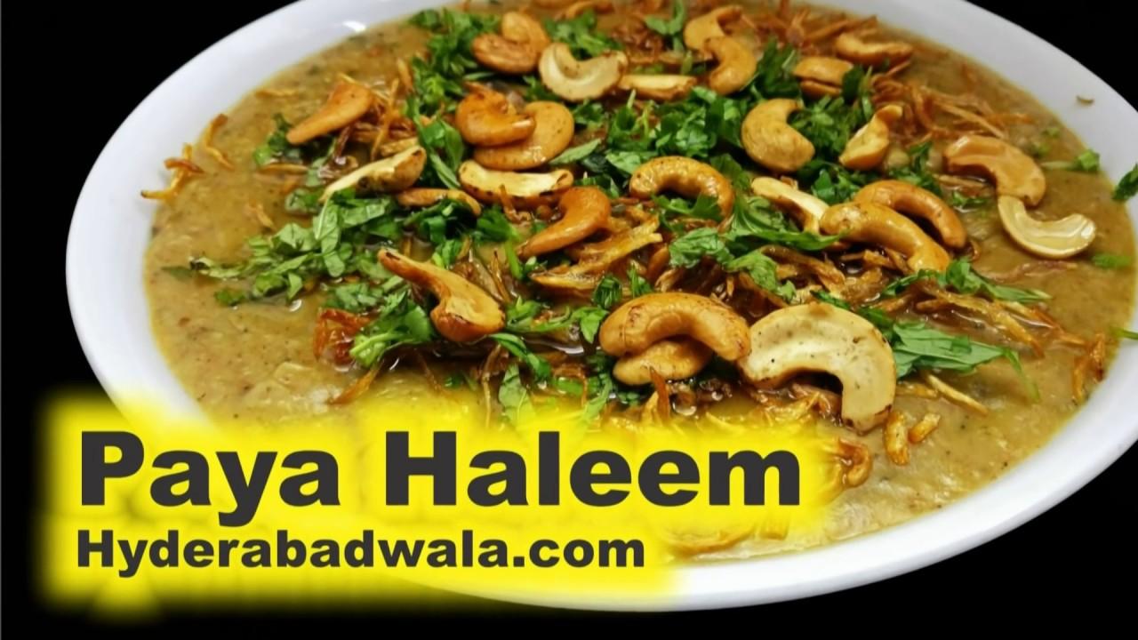paya haleem recipe how to make lamb trotters daleem haleem