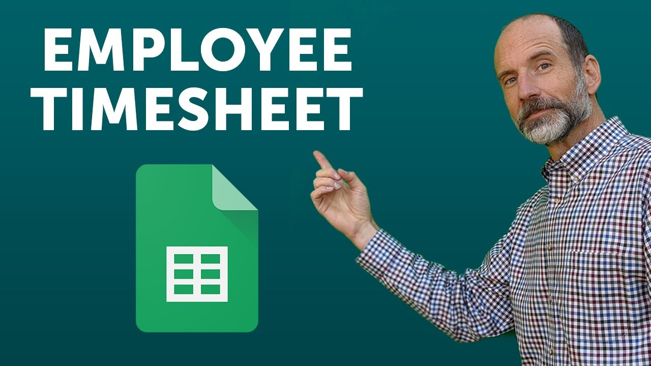 create an employee timesheet using google sheets youtube