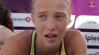 Alina Shukh (UKR) after winning Gold in the Heptathlon