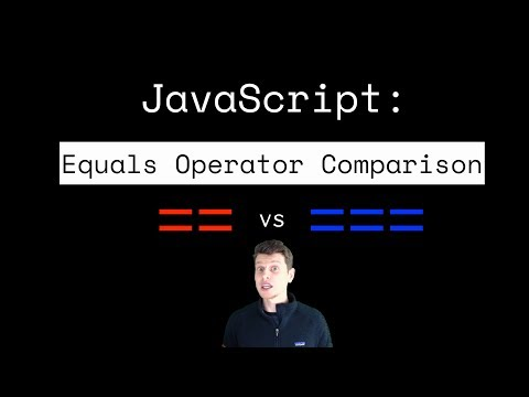 JavaScript Tutorial:  Which equals operator (== vs ===) should be used in comparisons? thumbnail