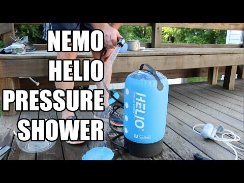 NEMO HELIO PRESSURE SHOWER VS SEA TO SUMMIT POCKET SHOWER AND COLEMAN CAMP SHOWER